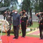President Kovind lays wreath at Dagger War Memorial, Baramulla on occasion of Kargil Vijay Diwas